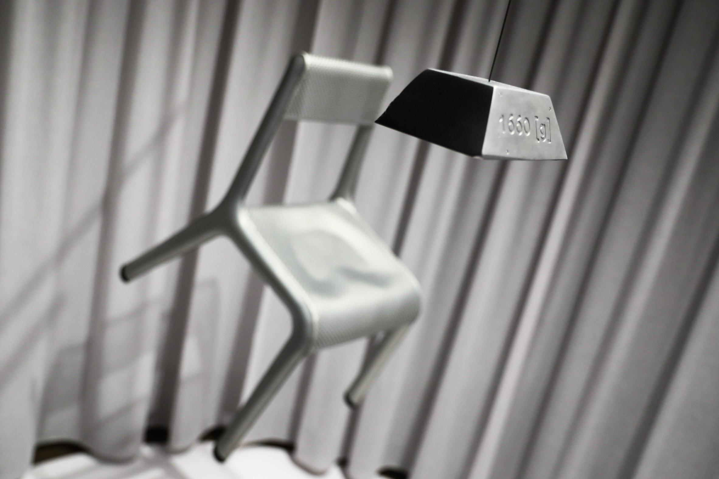 Studio Zieta's Ultraleggera chair in silver
