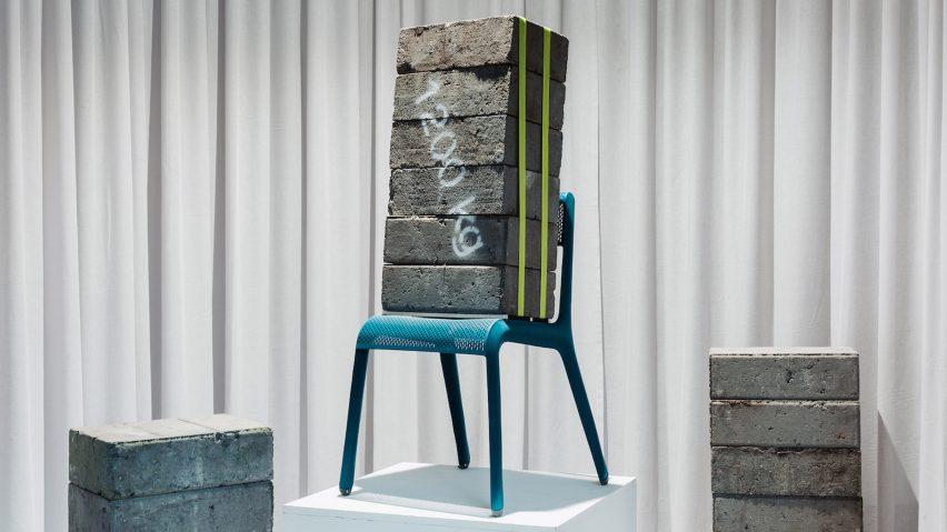 Studio Zieta's Ultraleggera chair in blue