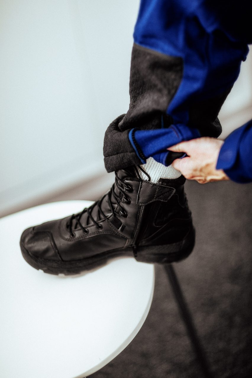 Footwear and spacesuit for Virgin Galactic pilots designed by Under Armour