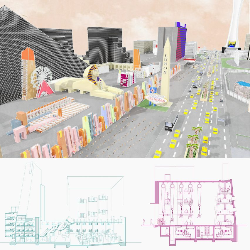 Architectural drawings by UNSW Sydney student Paige Kodesh