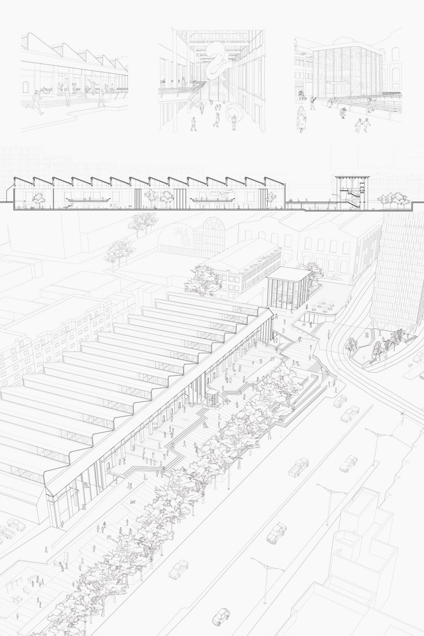 Architectural drawings by UNSW Sydney student Jonathan Tang
