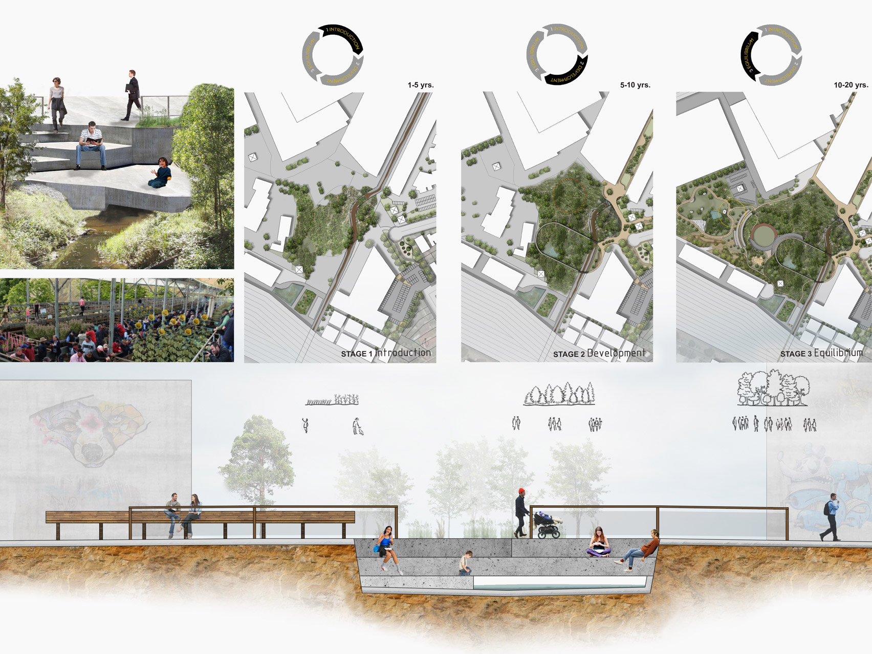 Landscape architecture drawings by UNSW Sydney student Hayley Farrell