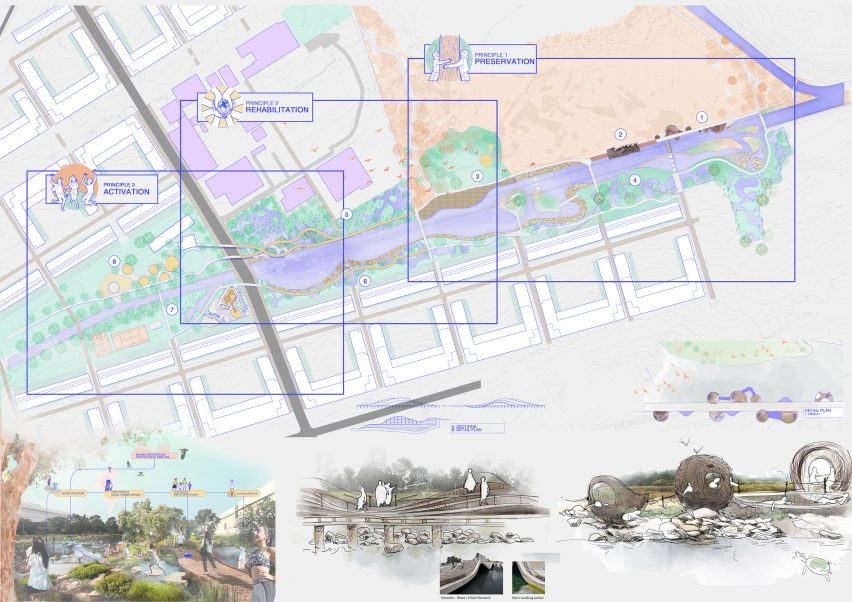 Landscape architecture drawings by UNSW Sydney student Shuyi Gong