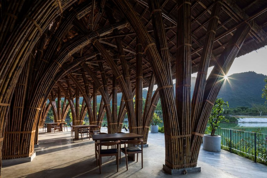 Interior of Vedana Restaurant by Vo Trong Nghia Architects