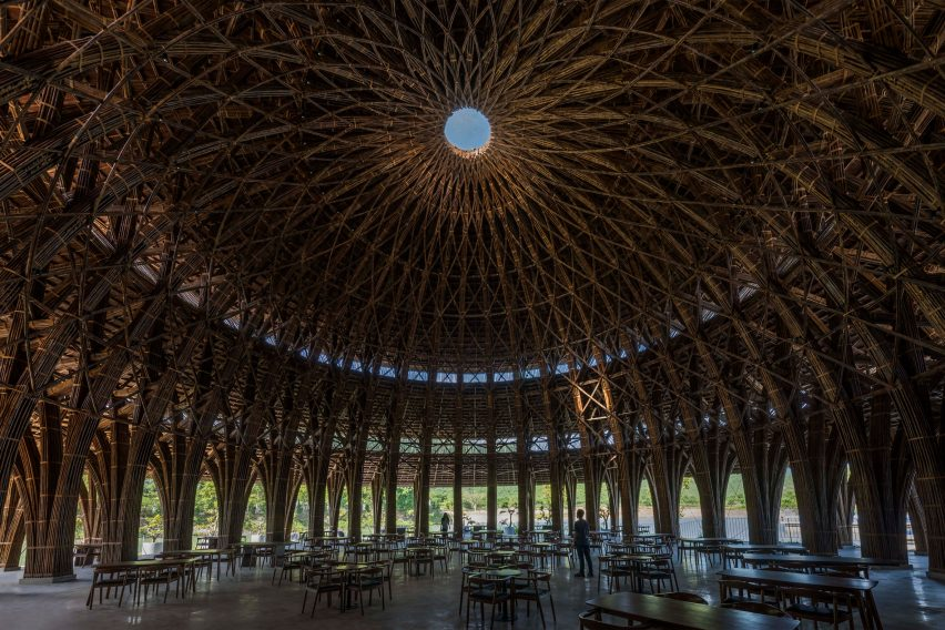 Bamboo dome of Vedana Restaurant by Vo Trong Nghia Architects