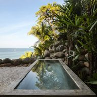 Outdoor bathing and a jungle yoga platform feature in Villa Pelícanos by Main Office