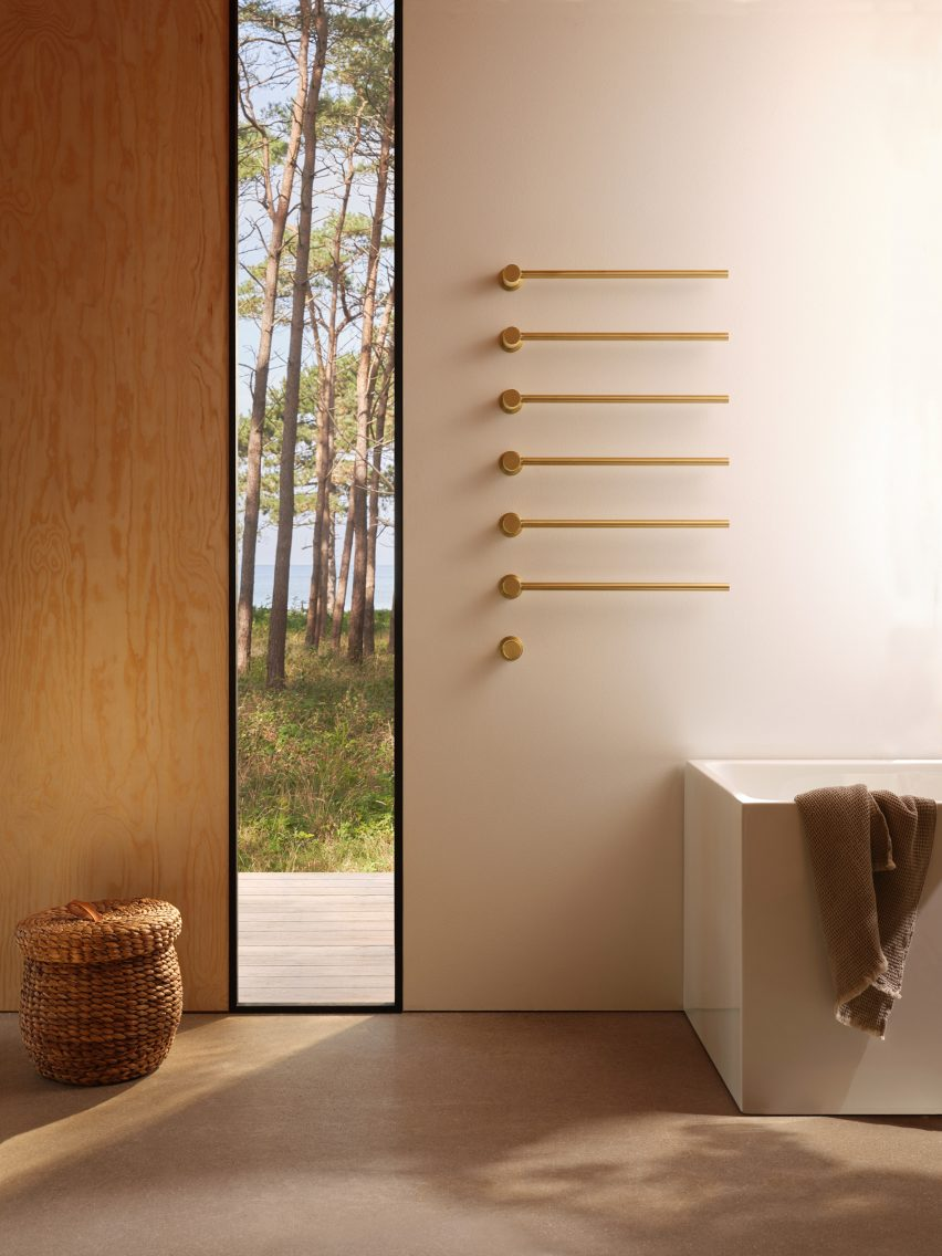 Vola's short film The Danish Sommerhus – Inspiring Life features its brushed-gold tap finish