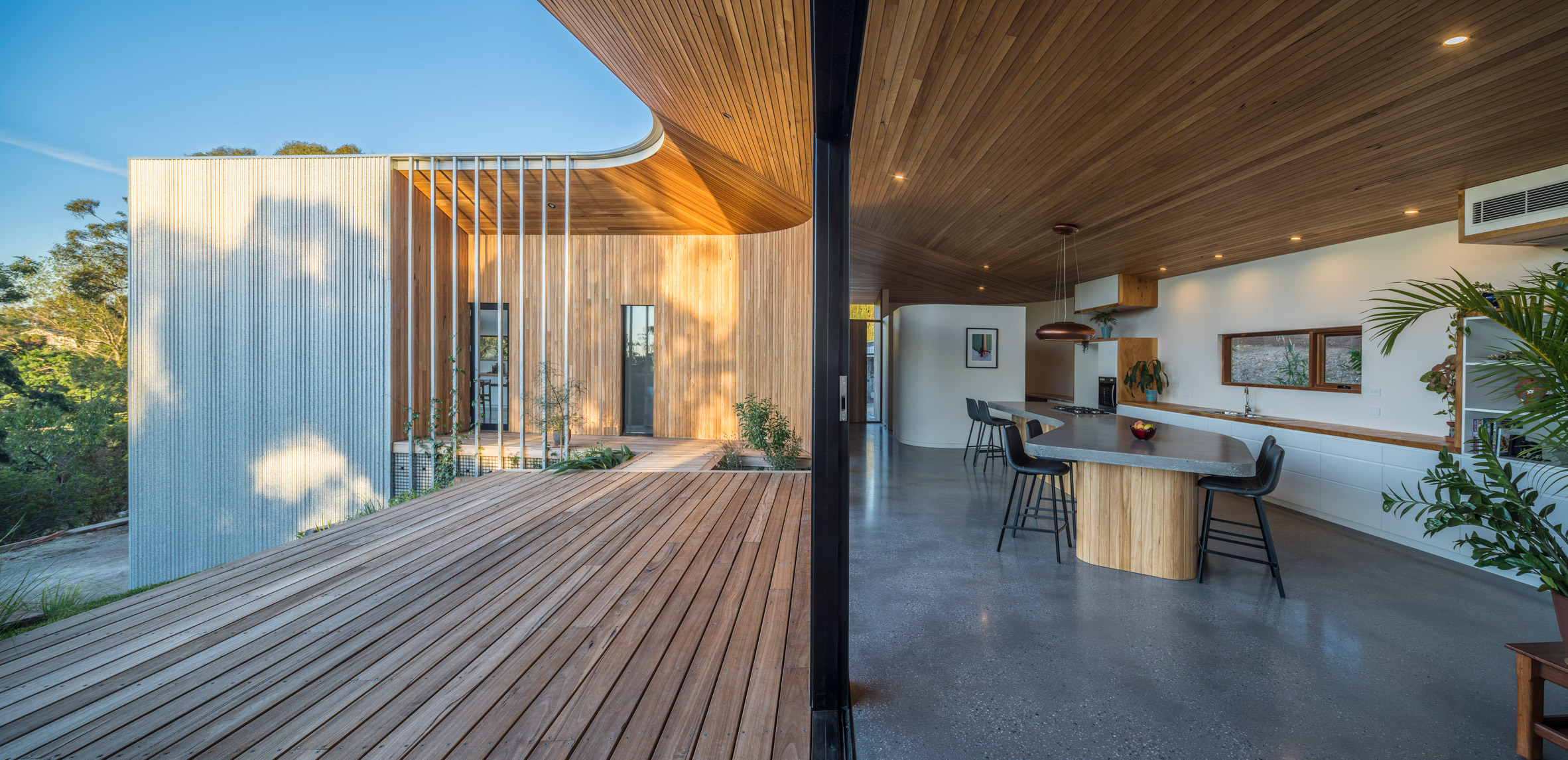 Inside and outside of Willunga House by Reuben French-Kennedy