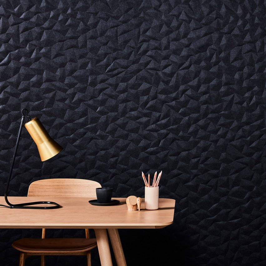 Black Ion wall panel by Woven Image