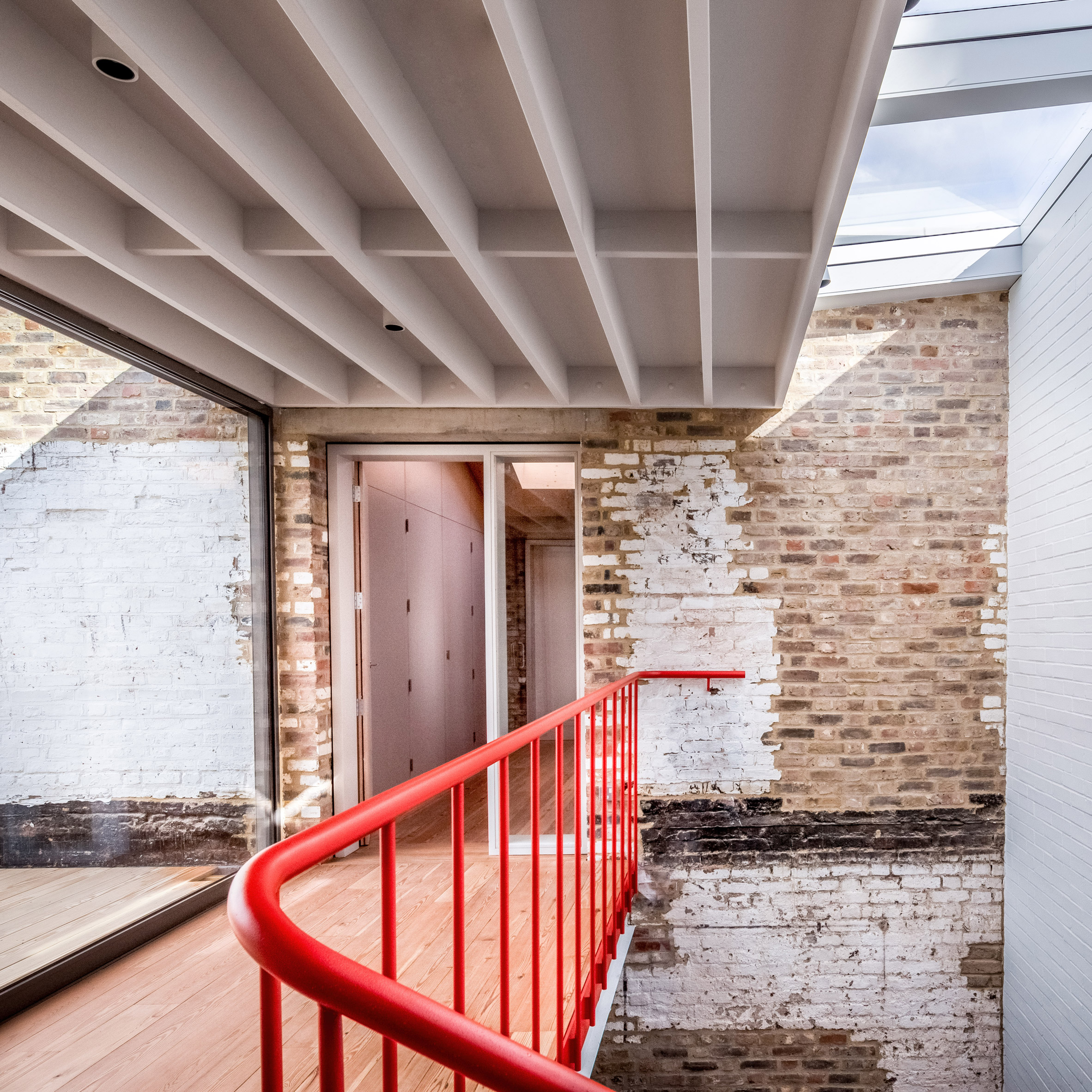 Detail of staircase at Yorkton Workshops by Pearson Lloyd and Cassion Castle Architects