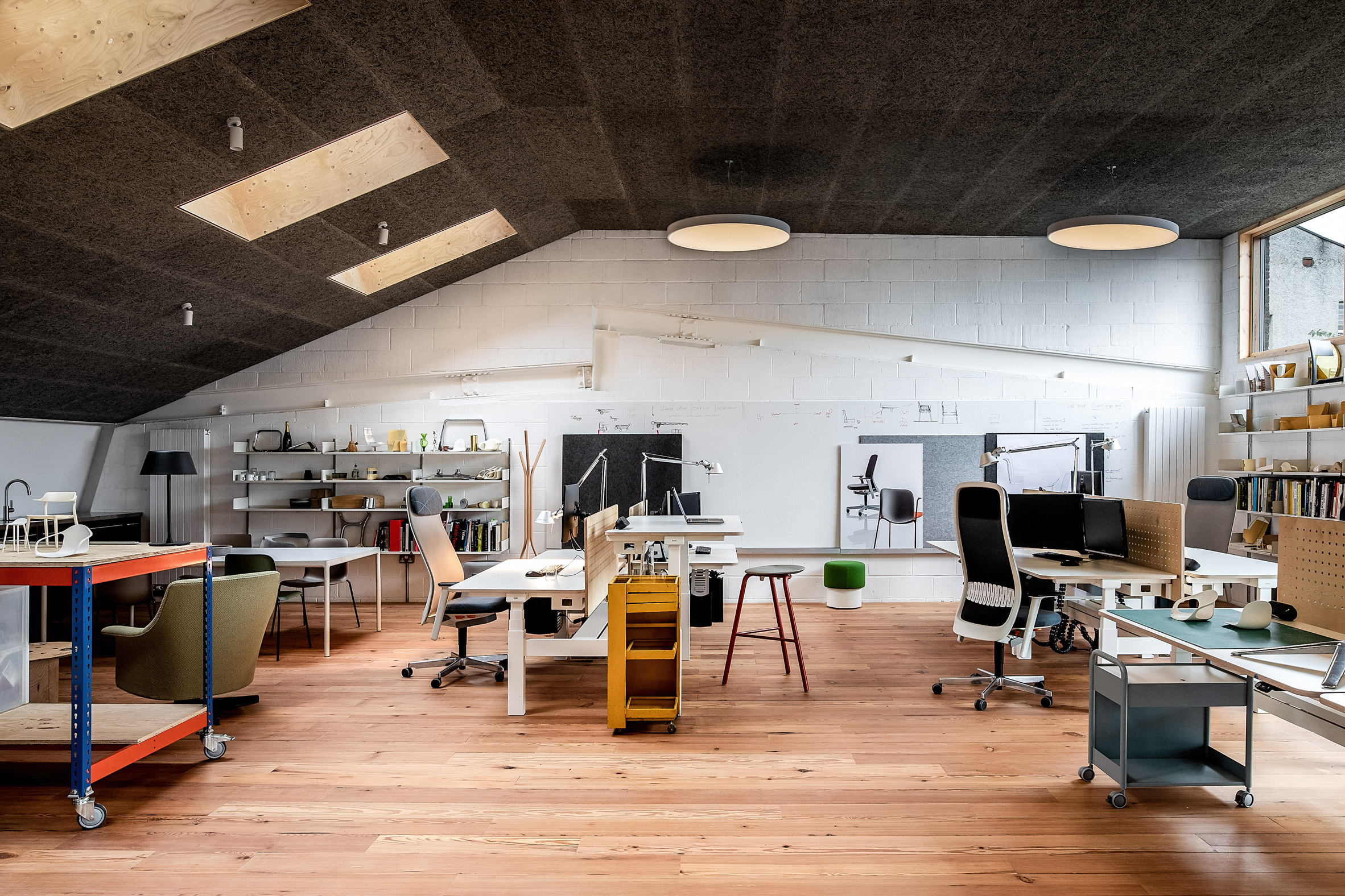Workspace in Yorkton Workshops by Pearson Lloyd and Cassion Castle Architects