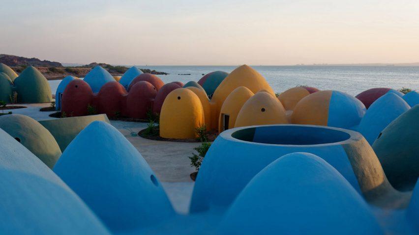 Colourful domed cultural retreat on Iranian island of Hormuz