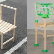Extruded Chair with Blob Hand Rest by James Shaw
