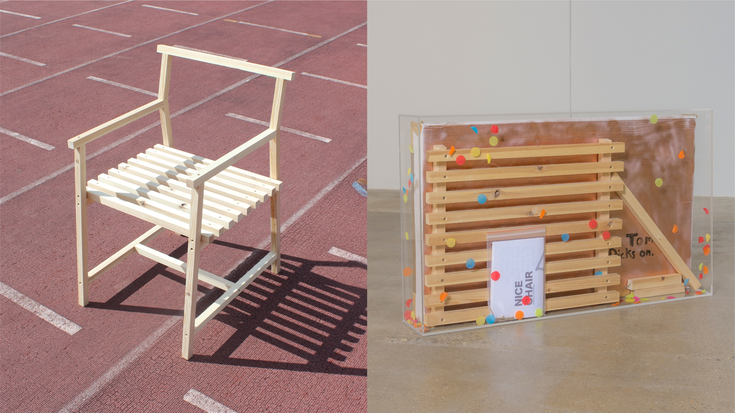 Chair Dunistrishuns by Joe Lycett from 19 Chairs project