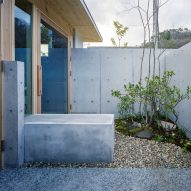 The exterior of a concrete dwelling by FujiwaraMuro Architects