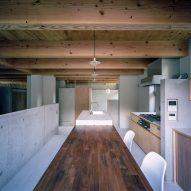 The dining room of House in Minoh-Shinmachi by FujiwaraMuro Architects