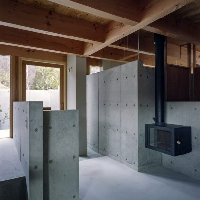 The concrete interiors of a Japanese house by FujiwaraMuro Architects