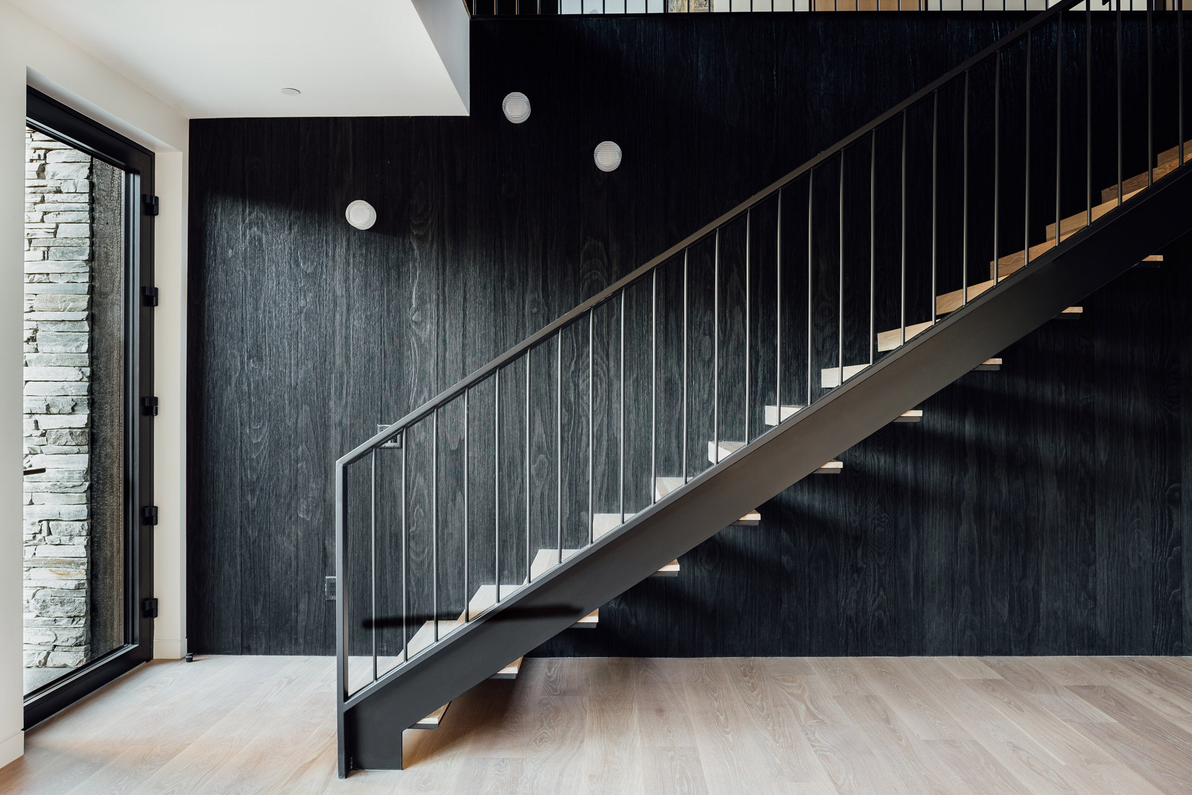 Staircase of Meadows Haus Utah Klima Architecture