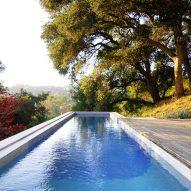 Gerhard Heusch Oak Pass Residence Beverly Hills swimming pool