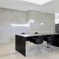 Gerhard Heusch Oak Pass Residence Beverly Hills basement open work area