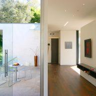 Gerhard Heusch Oak Pass Residence Beverly Hills glass doors