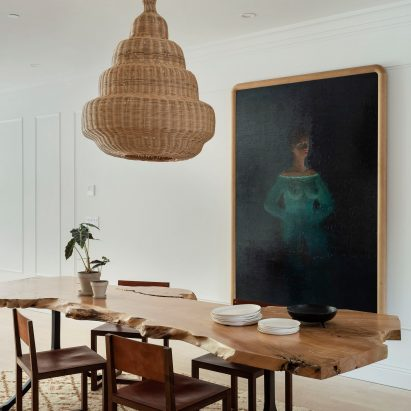 The Sackett Street townhouse's dining room