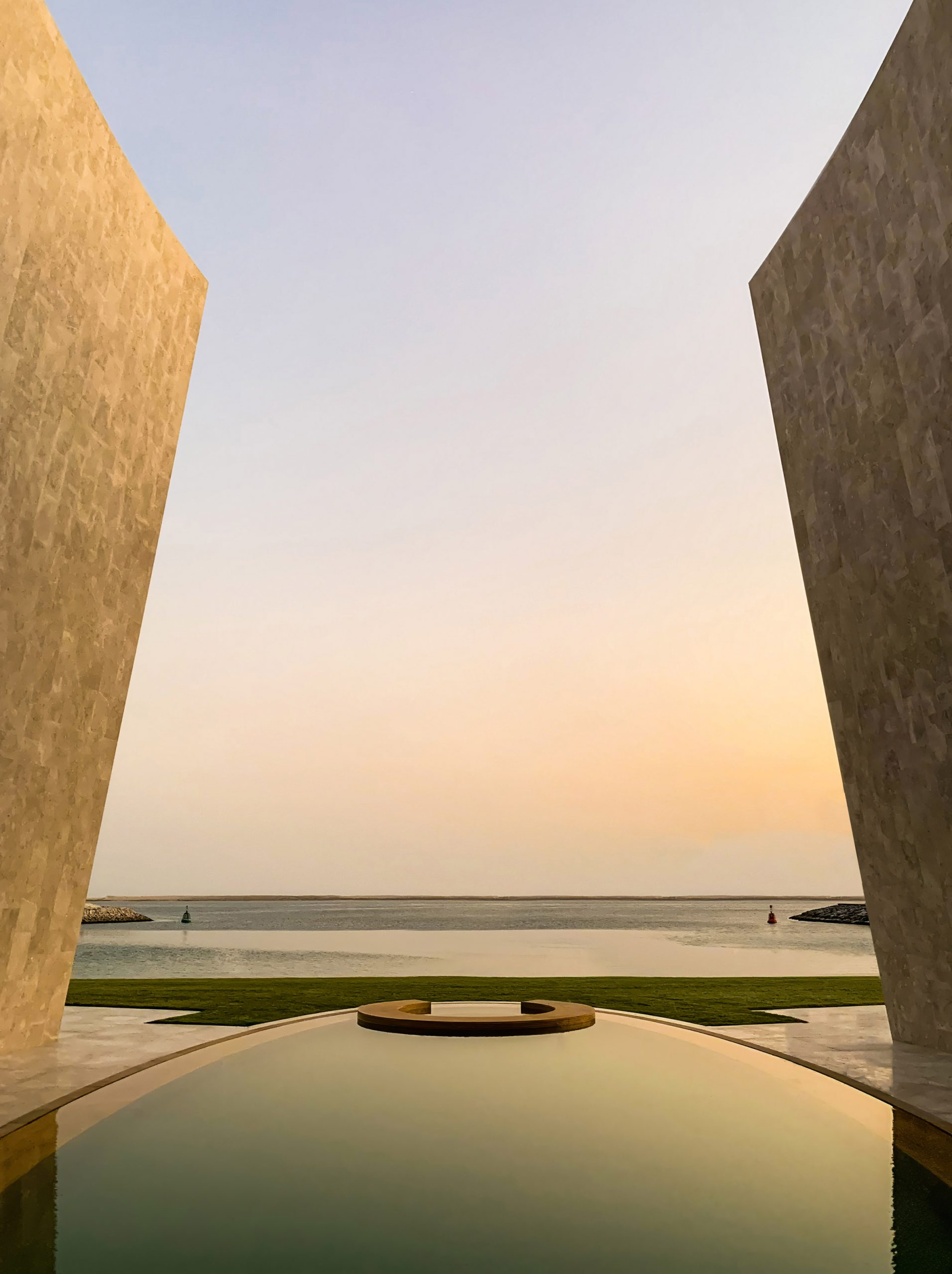 Villa on an artificial island in Abu Dhabi by Fabio Novembre