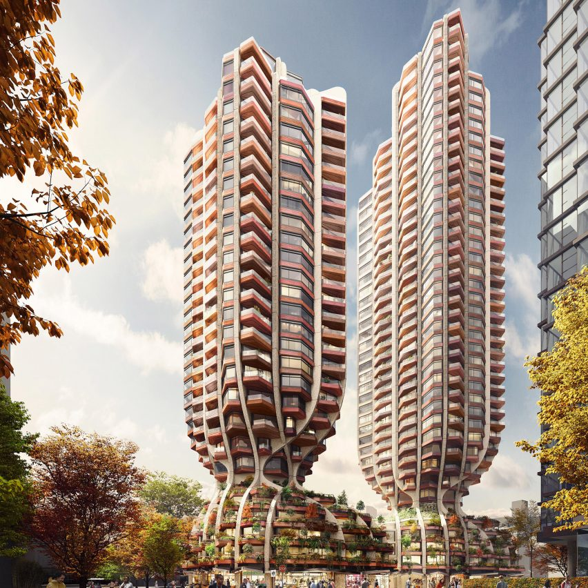 Heatherwick Studio reveals visuals of skyscrapers for Vancouver