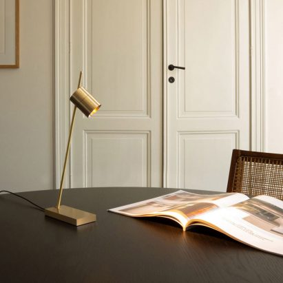 Aude table lamp by Bruno van Meenen for Trizo21 in brass