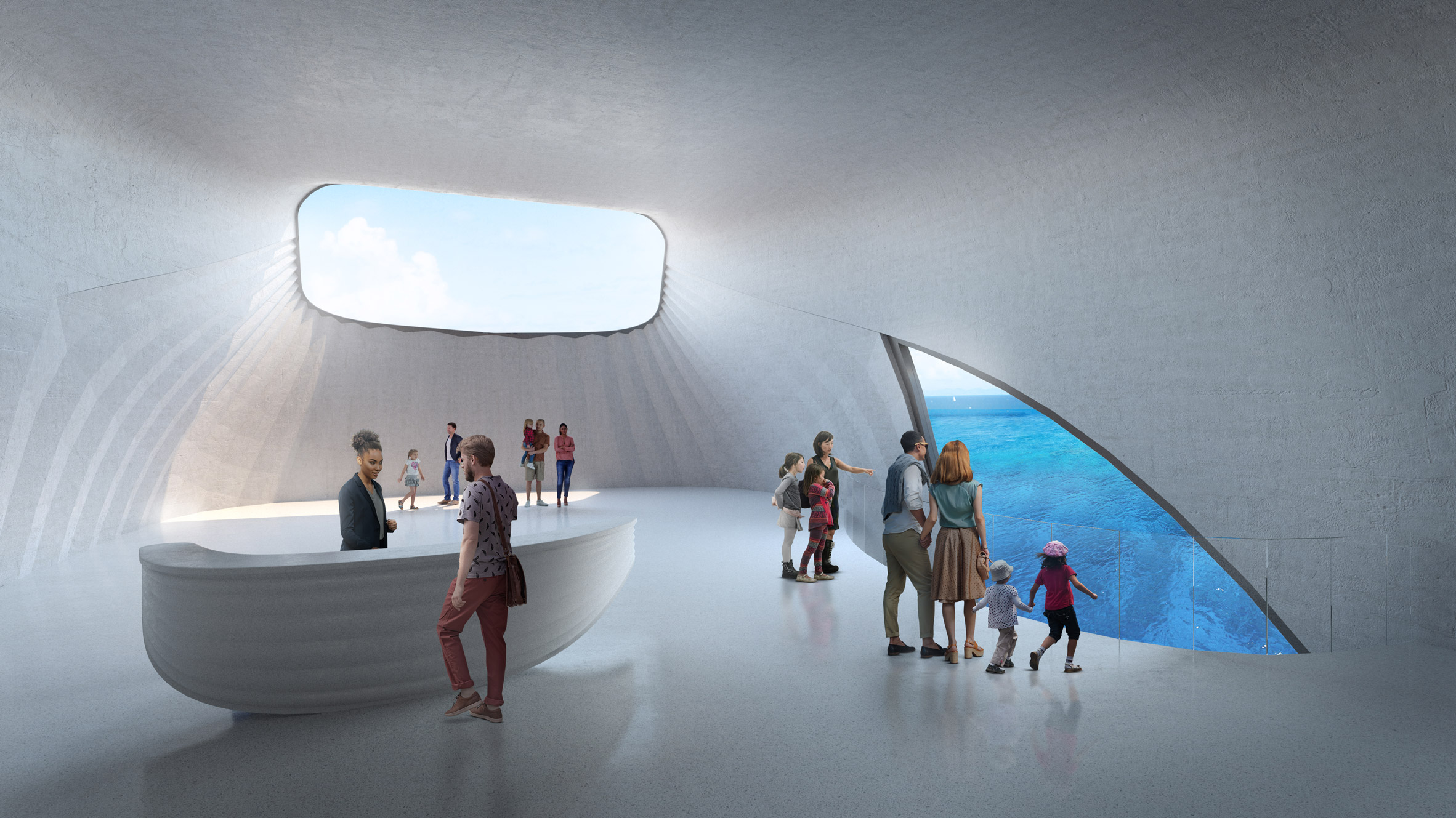A gallery in the Australian Underwater Discovery Centre by Baca Architects