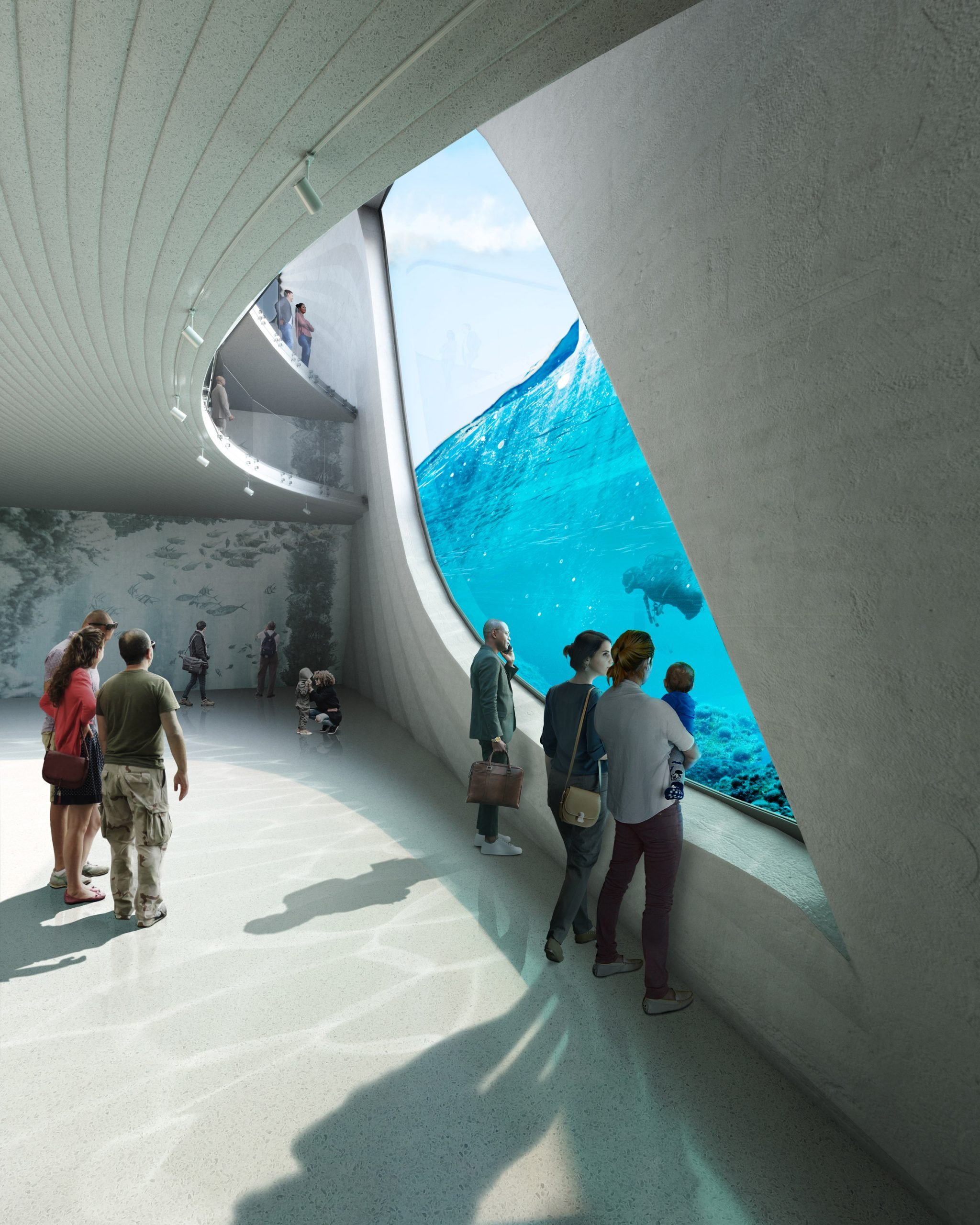 The observatory in the Australian Underwater Discovery Centre by Baca Architects