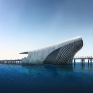 Australian marine observatory by Baca Architects will resemble a whale emerging from water