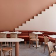 Biasol plays off Wes Anderson's whimsical style with The Budapest Cafe in Melbourne