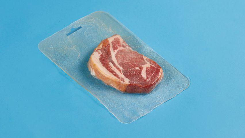 Bioplastic meat packaging