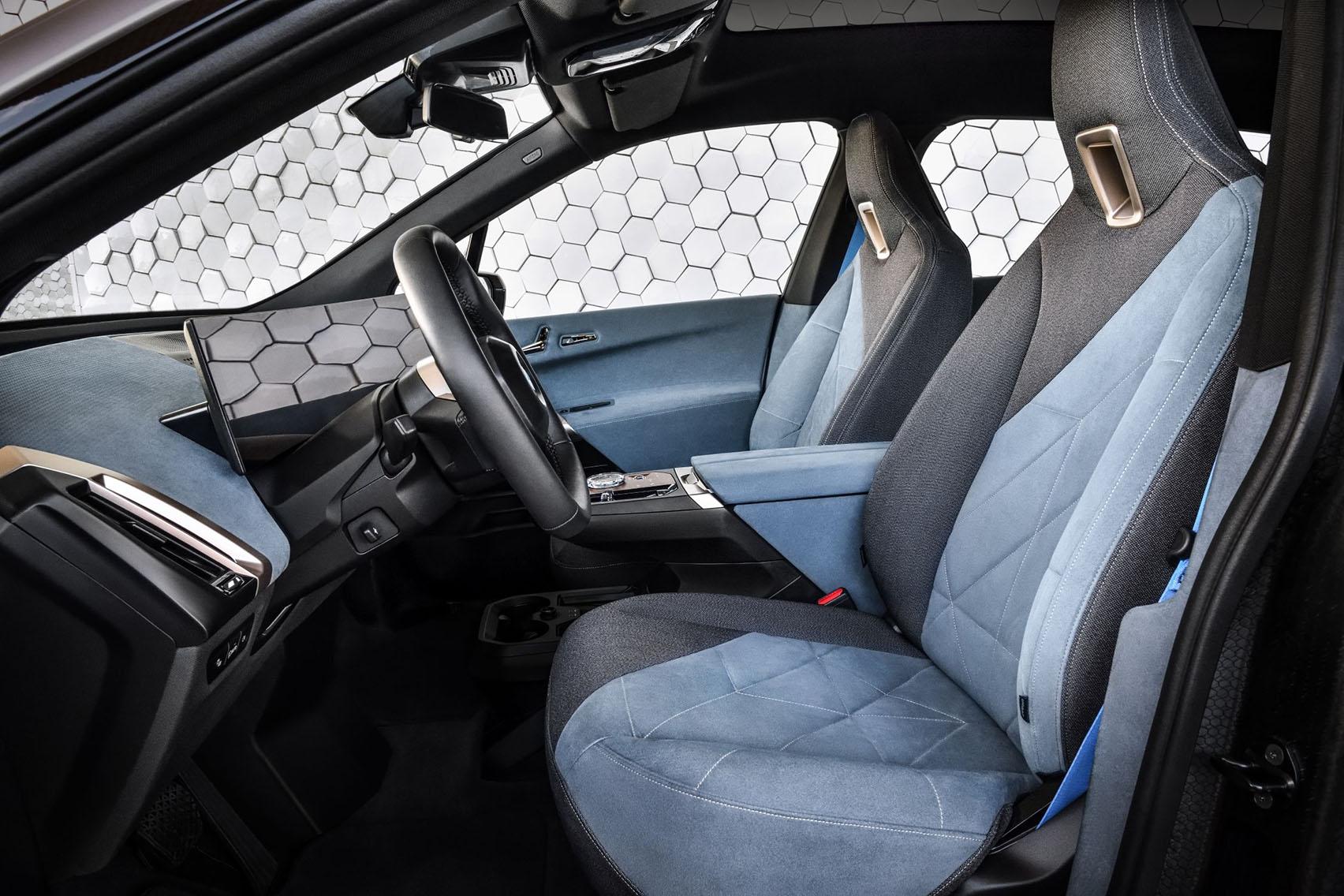 BMW iX electric car interior