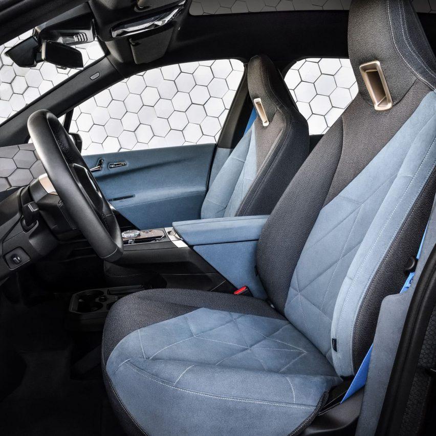 BMW iX interior discretely integrates high-tech features
