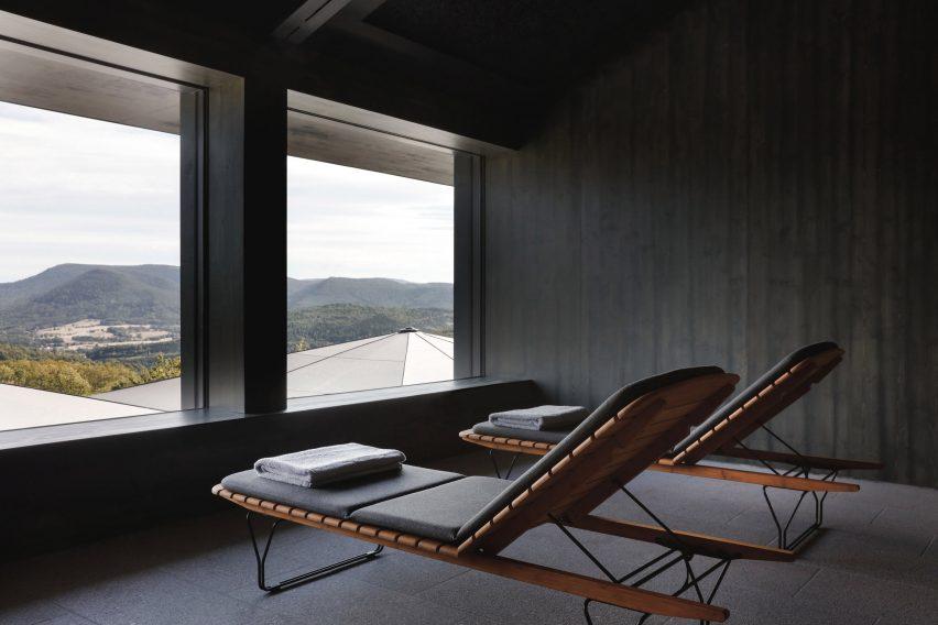 Spa at 48°Nord hotel in Breitenbach by Reiulf Ramstad Arkitekter