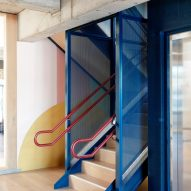 Steel staircase in Brighton Street Early Learning Centre by Danielle Brustman
