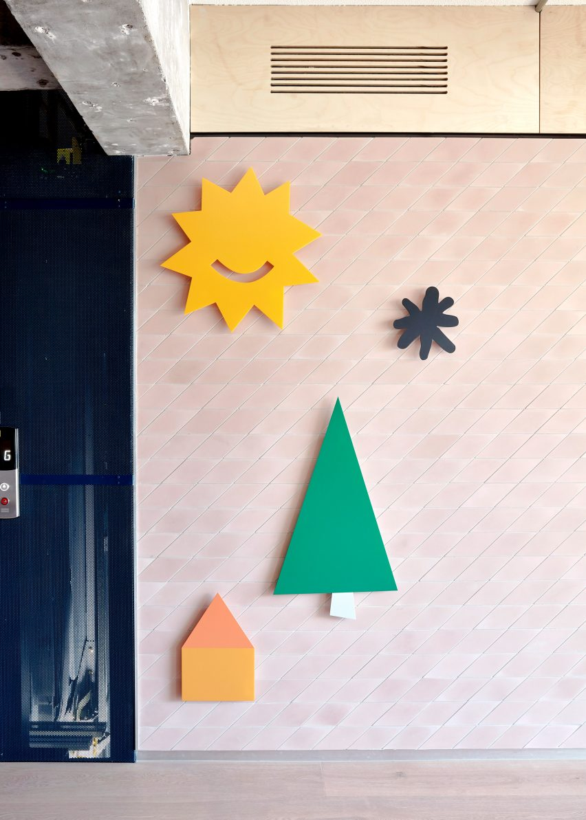 Decorated walls at Brighton Early Learning Centre by Danielle Brustman