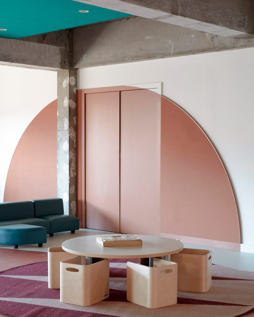 Pink wall at Brighton Early Learning Centre by Danielle Brustman