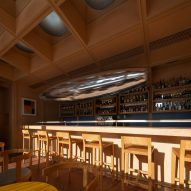 The bar inside C2 Cafe & Bar by Various Associates in Shenzhen, China