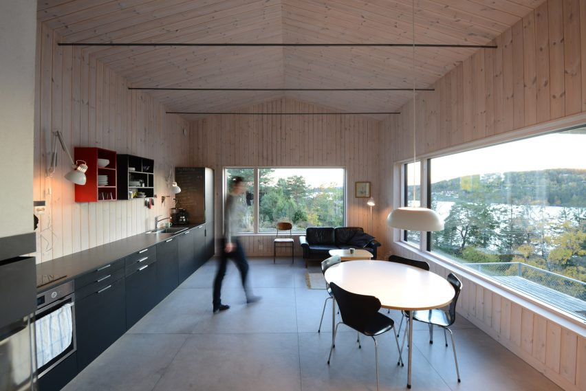 Open kitchen dining area