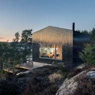 Jon Danielsen Aarhus designs spruce-clad holiday home overlooking the Oslofjord