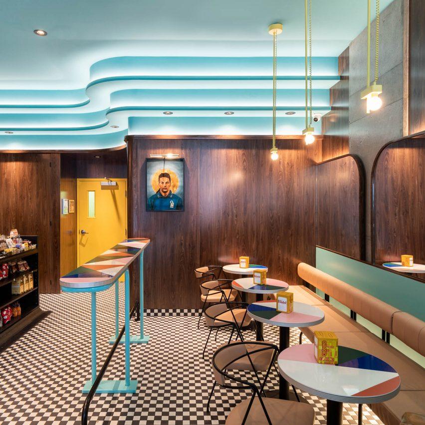 Ménard Dworkind creates retro coffee bar in downtown Montreal
