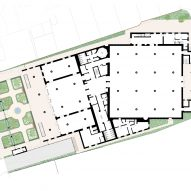 Plan of Cambridge Central Mosque by Marks Barfield Architects
