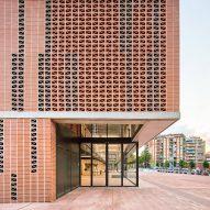 Entrance to Camp del Ferro sports centre in Barcelona