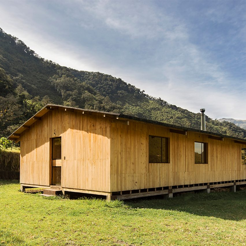 Casa Ocal is a eucalyptus-wood house in the Ecuadorian mountains