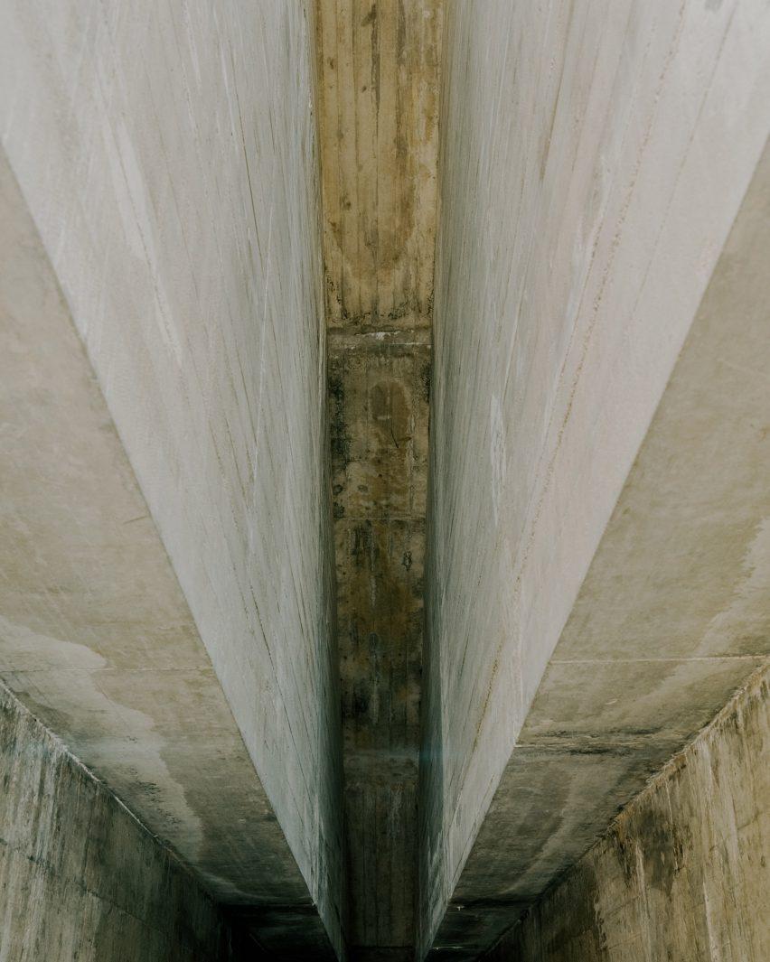 Inside the Castelgrande entrance by Aurelio Galfetti, captured by Simone Bossi