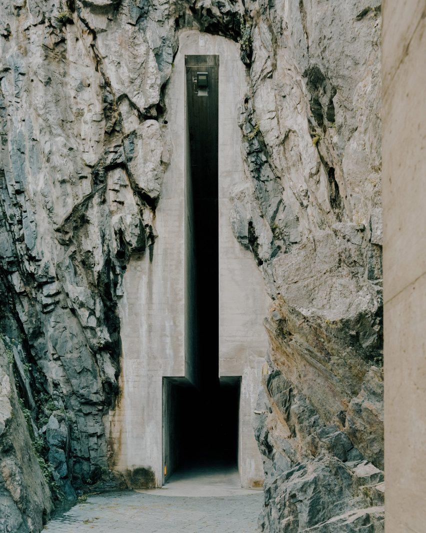 The Castelgrande entrance by Aurelio Galfetti, captured by Simone Bossi