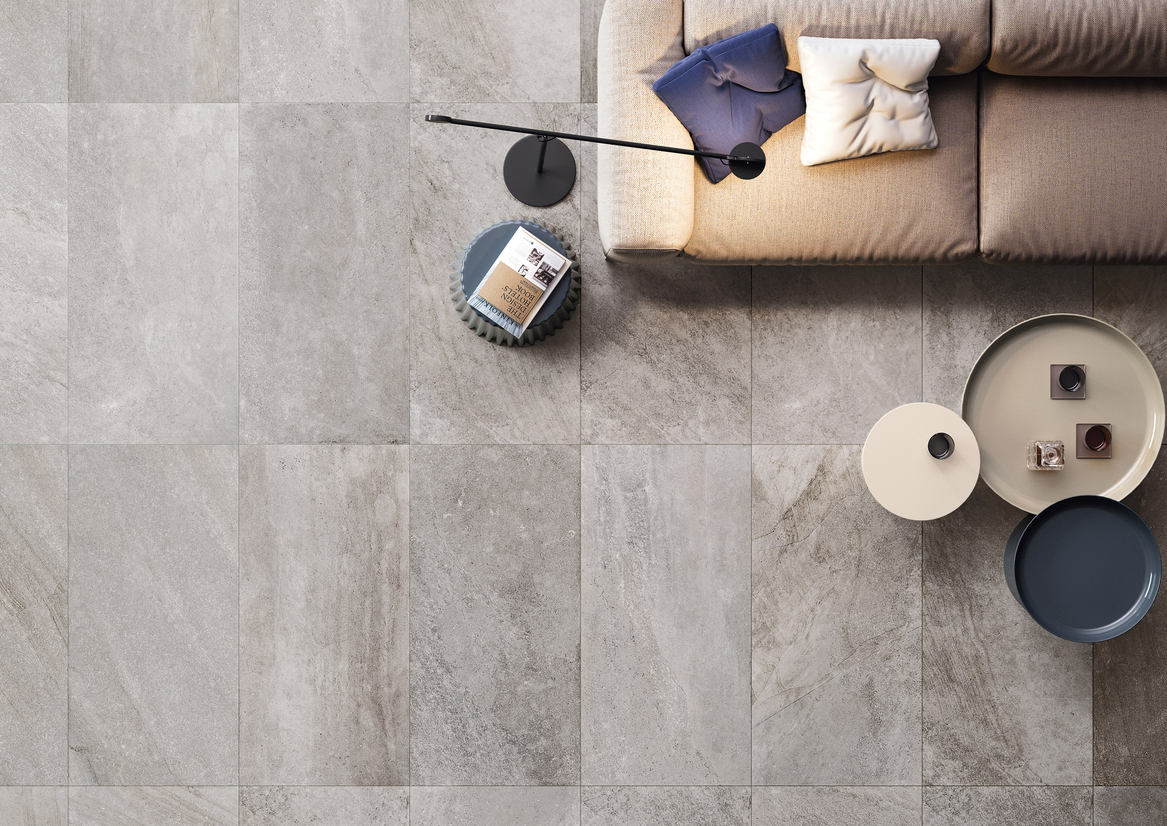 Tiles in Grey by Ceramiche Refin